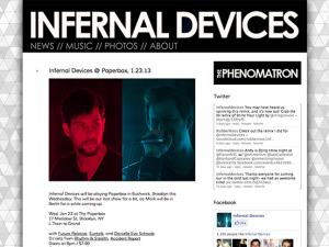 Infernal Devices Website